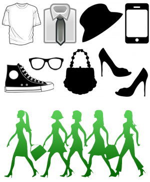 WebCroppers shopping icons